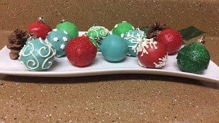 Cake Pop Christmas Ornaments