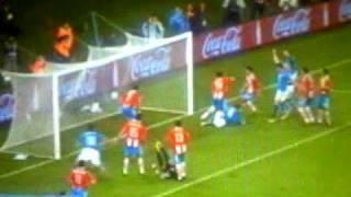 サッカーワールドカップ、イタリア代表デロッシ選手のゴール