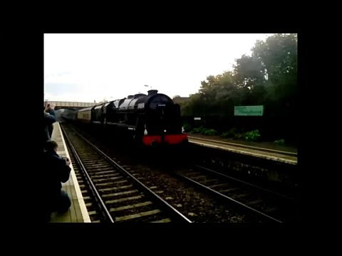 46100 'Royal Scot' passes Honeybourne Station with 'The Cots…