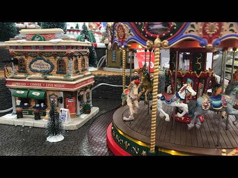 christmas village michaels store 4k lemax - Michaels Christmas Village
