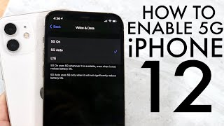How To Turn On / Off 5G On ANY iPhone 12!