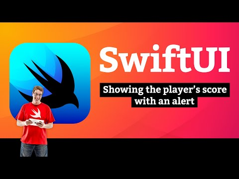 Showing the player's score with an alert – Guess the Flag SwiftUI Tutorial 7/9 thumbnail