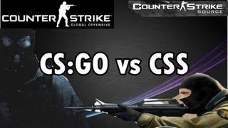 CSS vs CS:GO (Counter Strike: Source vs Counter Strike: Global Offensive)