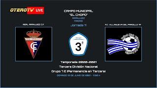 R.F.F.M. - TERCERA DIVISIÓN NACIONAL - PERMANENCIA - Jornada 11: Real Aranjuez C.F. 0-1 F.C. Villanueva del Pardillo