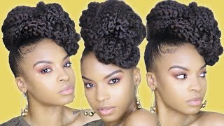 I CHALLENGED MYSELF USING A LOT OF MARLEY BRAIDING HAIR!!  | NATURAL HAIR