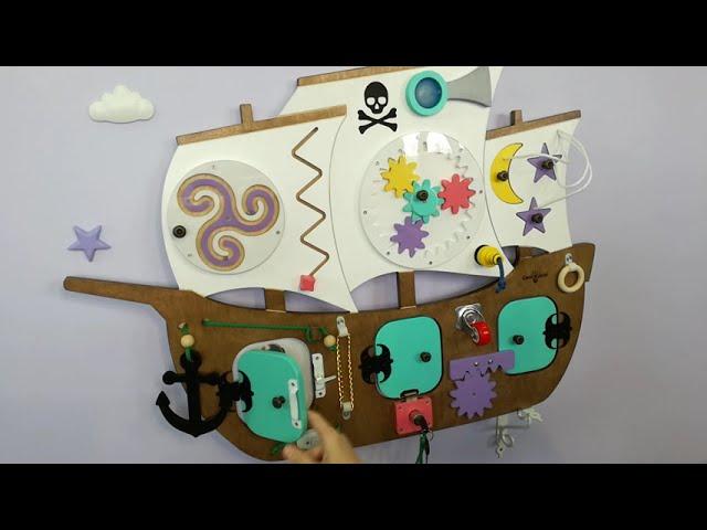 Видео Бизиборд Пиратский корабль
