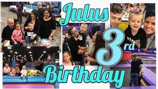 Vlog | 💙Juluś 3 Birthday!! 💙 | Best Spot For Kids Birthdays | Altitude Trampoline Park 💙