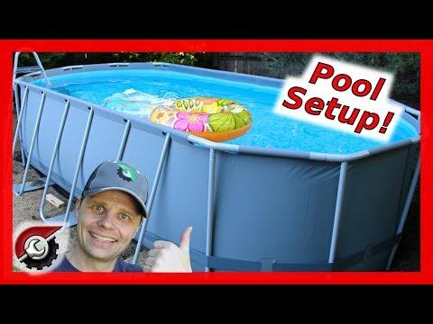 Costco Pool Setup: Bestway Oval Pool