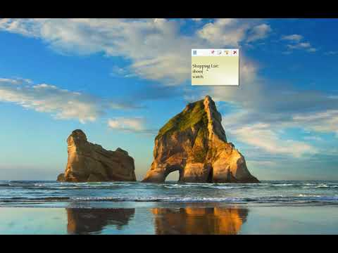 Keep desktop sticky notes always on top of other apps in Windows