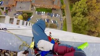 Подготовка и выход к рабочему месту промышленного альпиниста
