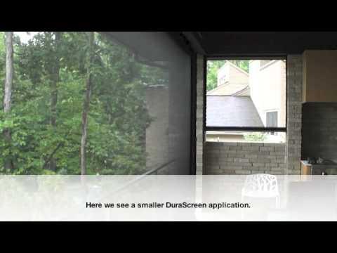 DuraScreen Retractable Screens Interior/Exterior