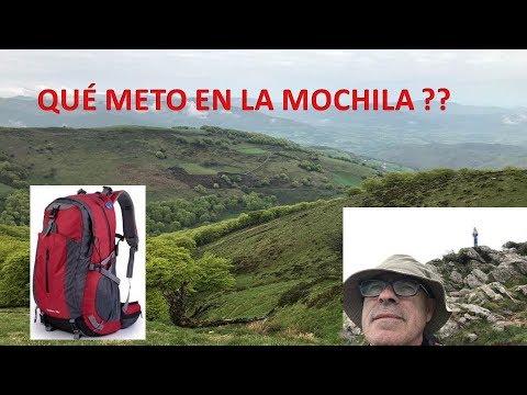 LA MOCHILA PARA EL CAMINO DE SANTIAGO