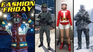 GTA Online CHRISTMAS / WINTER THEMED FASHION FRIDAY (The Best Outfits)