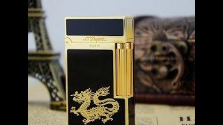 Bật lửa Dupont rồng vàng nền đen D09 | Deva.vn | Giá 650.000 Đ