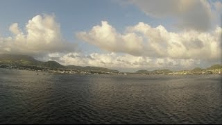 preview picture of video 'Basseterre, St. Kitts - Independence of the Seas Departure Time Lapse HD (2013)'
