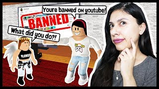 I GOT MY LITTLE SISTER BANNED ON YOUTUBE! - Roblox Roleplay - Robloxian Life