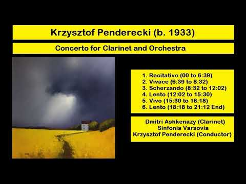 Krzysztof Penderecki (b. 1933) - Concerto for Clarinet and Orchestra