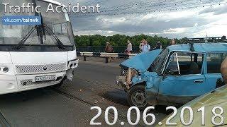 Подборка аварий и дорожных происшествий за 20.06.2018 (ДТП, Аварии, ЧП)
