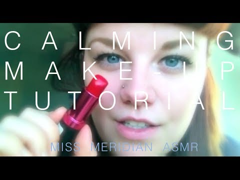 Calming makeup tutorial | Slow hand movements and whispered makeup application. ASMR.