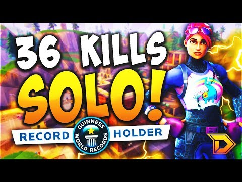 36 KILLS SOLO World Record! (Fortnite Battle Royale Gameplay Most Kills Solo vs. Squad)