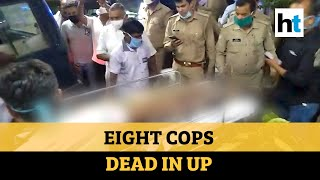 Eight UP cops out to nab dreaded criminal killed in firing in Kanpur - Download this Video in MP3, M4A, WEBM, MP4, 3GP
