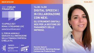 Youtube: Digital Speech | Gli strumenti digitali Nexi per la gestione dei pagamenti delle imprese | Financial Forum 2021