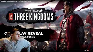 Total War: Three Kingdoms - E3 Gameplay Reveal/Cao Cao In-Engine Trailer - DOUBLE REACTION!