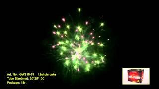"""Салют RED PEONY GW218-74 Выстрелов: 12; Высота: до 30м; Время: 22сек  Видео. от компании Круглосуточный магазин фейерверков """"Кайман"""" Крым - видео"""