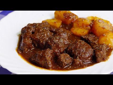 GUISO DE TERNERA EN SALSA CON PATATAS - recetas de cocina faciles
