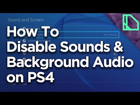 How to Disable Sounds and Background System Music on Playstation 4 (PS4)