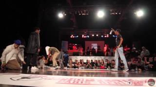 Quarter Final 1VS1 Battle Kanon & Larry LesTwins (Judge Joker) VS Zyko   HipHop Festival 2015