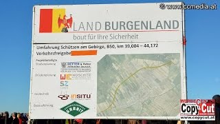 preview picture of video '19. 12. 2014 - Verkehrsfreigabe der Umfahrung Schützen/Geb. - CCM-TV.at'