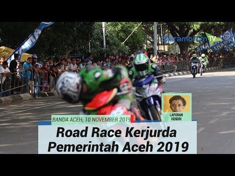 Aksi Balapan 13 kelas Motor Bebek Hingga Vespa Tune Up. Road Race Kerjurda Pemerintah Aceh 2019