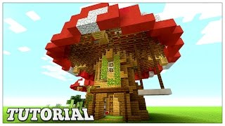 Minecraft How To Build A Mushroom House Tutorial Easy Small