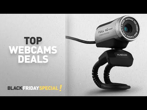 Black Friday Webcams Deals: USB 1080P Webcam with HD Microphone, Ausdom AW615 Full HD 1080P / 30 FPS
