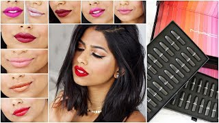Trying Out 48 MAC LIPSTICKS Under 10 Minutes!