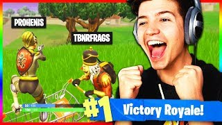 *CLUTCH* Victory Royale w/ TBNRfrags (Fortnite: Battle Royale Funny Moments)