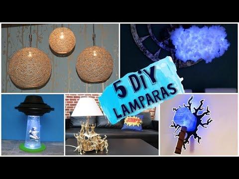 5 Lámparas DIY que puedes hacer tu mismo facilmente - RECOPILATORIO MANUALIDADES