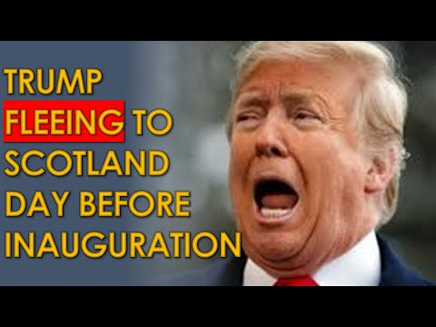 Trump Flying to Scotland the DAY BEFORE Biden Inauguration but Trump BANNED from entering country