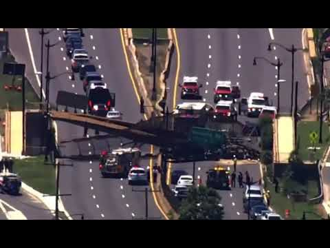 Pedestrian Bridge Collapses Onto DC Interstate, Several People Injured and Rescued