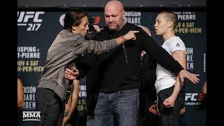 UFC 217: Joanna Jedrzejczyk vs. Rose Namajunas Staredown - MMA Fighting