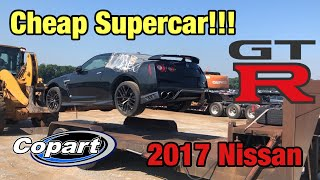 Rebuilding My First Supercar, Super cheap Wrecked 2017 Nissan GTR From Copart Salvage Auction