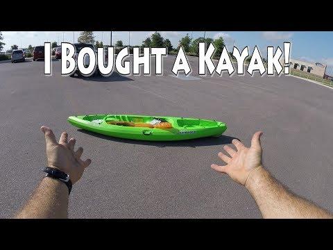 Buying My FIRST Fishing Kayak! From WALMART! Lifetime