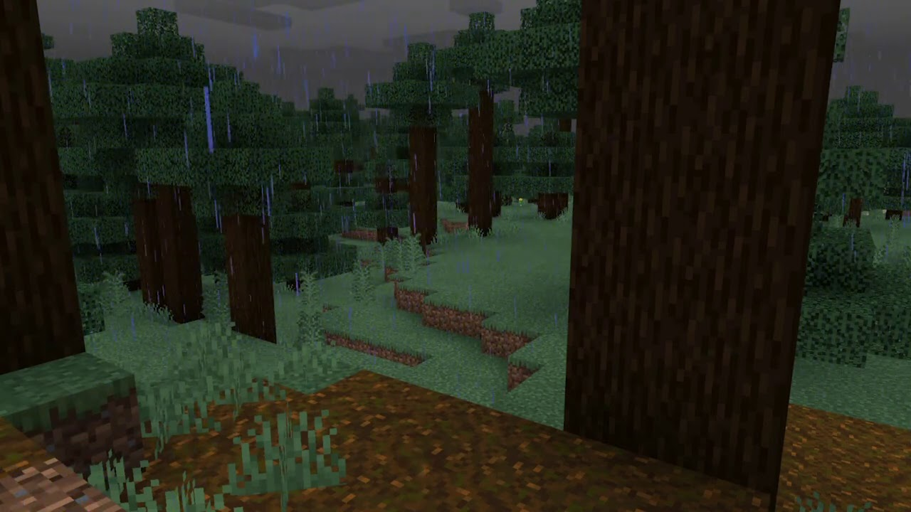 Minecraft Rain on Leaves Ambience with Music to help sleep 10 Hours