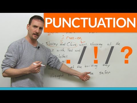 Learn Punctuation: period, exclamation mark, question mark (видео)