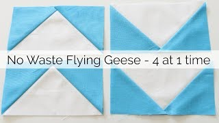 How To Sew No Waste Flying Geese - No Specialty Ruler