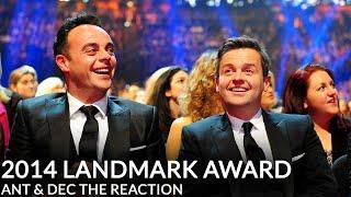Ant & Dec's NTA Landmark Award - Their Reaction