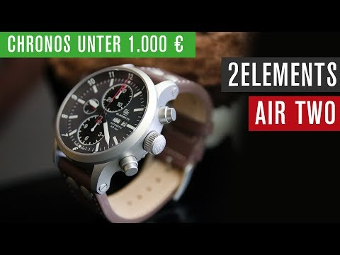 Chronos unter 1000 €: 2ELEMENTS Air Two Chronograph | Valjoux 7750