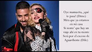 Medellín   Madonna & Maluma   (Lyrics)