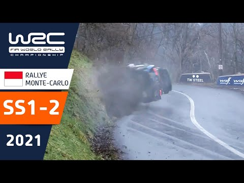 WRC 2021 ヒュンダイのタナックがトップ 開幕戦のラリーモンテカルロ SS1-2ハイライト動画